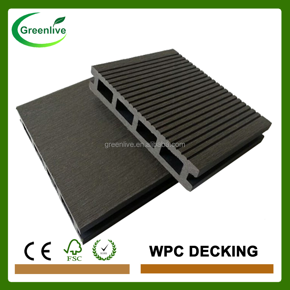 Anti slip garden road wood plastic composite decking buy for Garden decking non slip