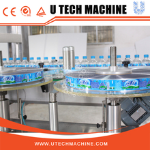 Fully automatic liquid bottle hot melt glue labeling machine with OPP