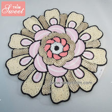 factory wholesale 3d sequin flower patches for clothing