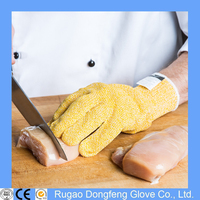 Amazon Food Grade Kitchen Yellow Color Cut Protection Gloves EN 388 4543