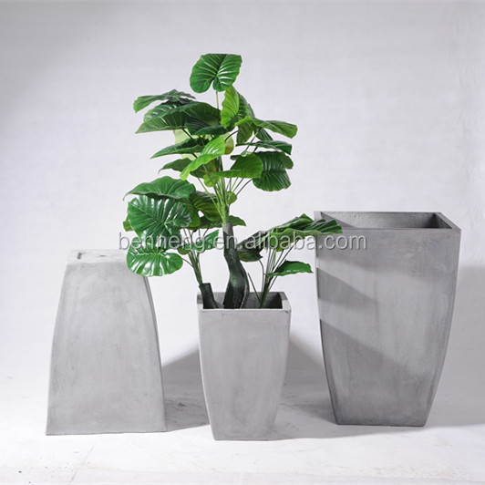 FT05 Home decoration large magnesia cement plant pots garden pot