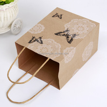 Custom logo printed cheap shopping brown paper bags small