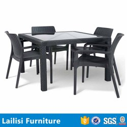 Patio rattan 4 seater dining table set online shopping pakistan