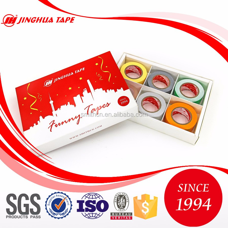 Jinghua brand stationery adhesive tape paper box for decoration