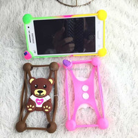 Factory whosale 3D cartoon shape silicone mobile phone cover,silicone cell phone case