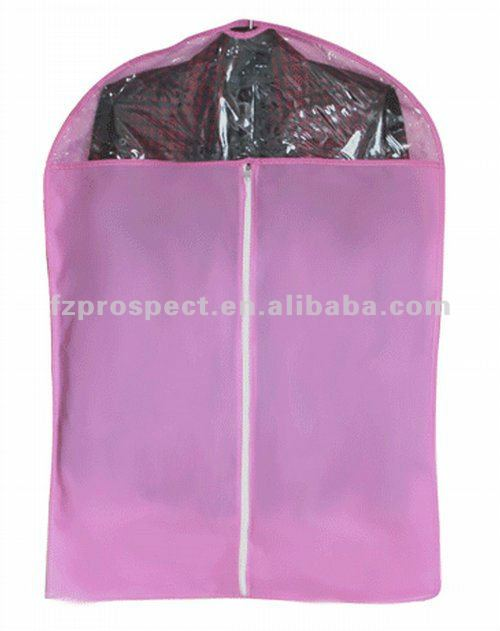 Non woven garment bag suit cover with pvc window