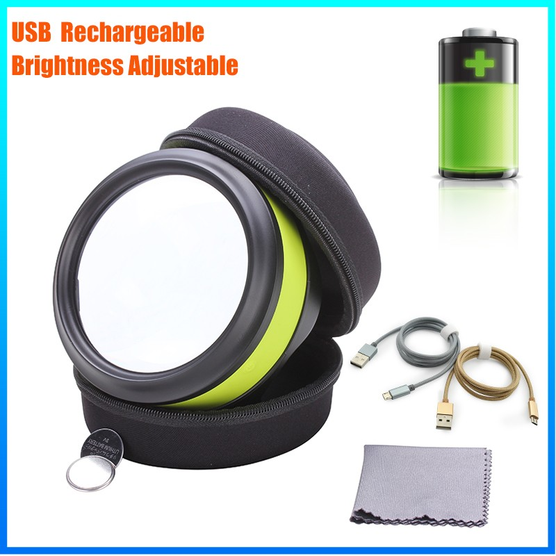 DH-86016 Usb Rechargeble Lamp Type Magnifier Visor