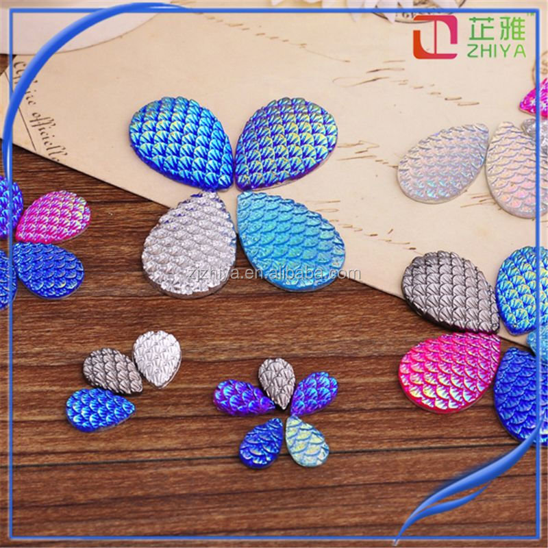 wholesale rhinestone applique 18*25 mm epoxy resin for Earring Findings Dragon