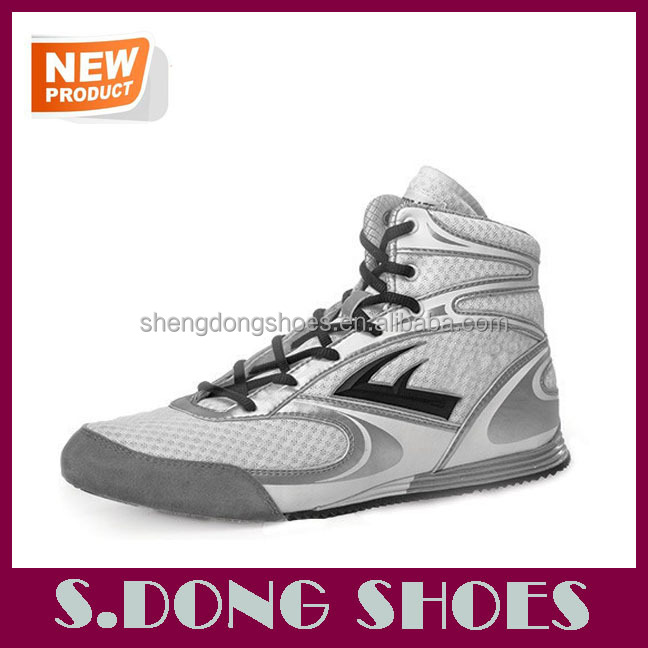 2016 New design men boxing shoes custom made boxing shoes