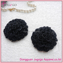wholesale round black rose sexy nipple cover for women