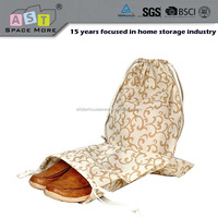 Promotional non woven fabric drawstring shoe bag