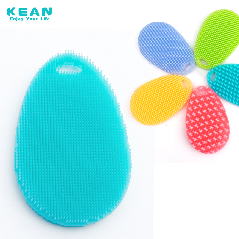 High quality colored soft washer as brush white silicone case
