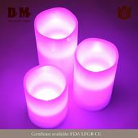 Cheap multi color changing led tealight candle in public area