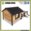 SDD010 Pet Dog Kennel House with Patio Wooden Double Door Timber Bed Large Porch Deck