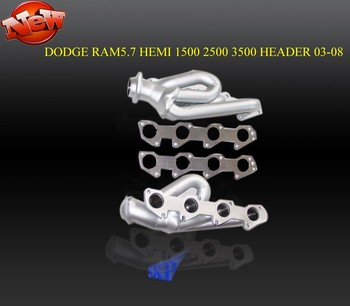 Ceramic coated EXHAUST HEADER FOR 03-08 DODGE RAM HEMI TRUCK V8 ENGINE 5.7L 1500 2500 3500