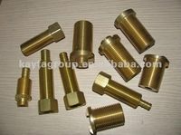 High quality custom brass threaded insert pipe fitting