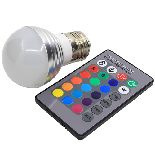 Color Changing 3W magic E27 RGB LED Lamp Light Bulb with remote