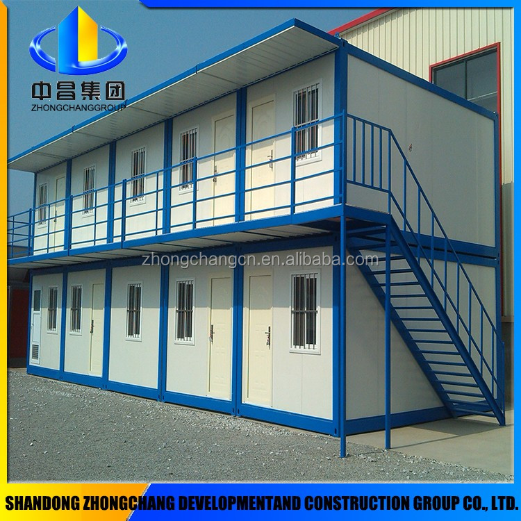 eco friendly single slope roof sandwich panel prefab house