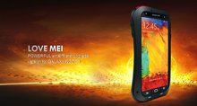 For Samsung galaxy note 3 Love mei Waterproof Shockproof Snowproof Powerful Rugged Small Waist Metal Aluminum cover Case