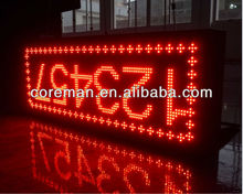 Movable led single color display screen, indoor dot matrix text led display p4 p10 p12