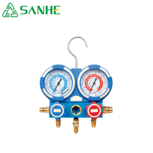 Air conditioner system pressure gauges double digital manifold gauge