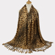 New Arrive big square Leopard Print Hemming Shawl Scarf with tassels for woman