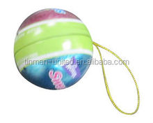 New product christmas decorative ball shape tin, metal candy case