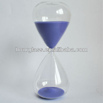 "11"" 1 Hour Hourglass Sand Timer with Purple Sand"