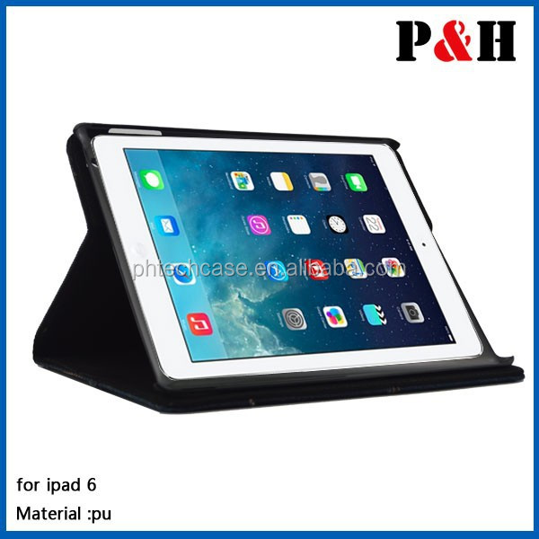 for ipad air 2 smart leather case cover , for ipad case cover