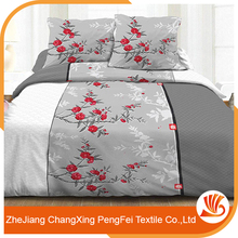 polyester bedsheet textile fabric disperse printed brushed fabric
