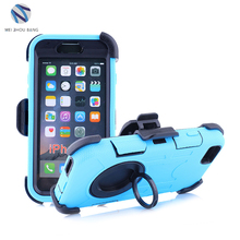Protective Case for iPhone 6 6s with holder Ring phone case silicone +PC shockproof wearable mobile phone cover