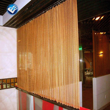 Decorative metal chain door curtains fly screen
