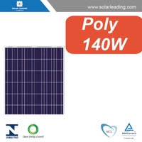 CE approved 140w pv solar modules with silicon wafer solar cell for grid tie solar system