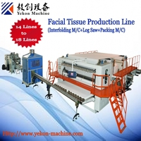 Facial tissue production line Facial tissue folding machine and packing machine