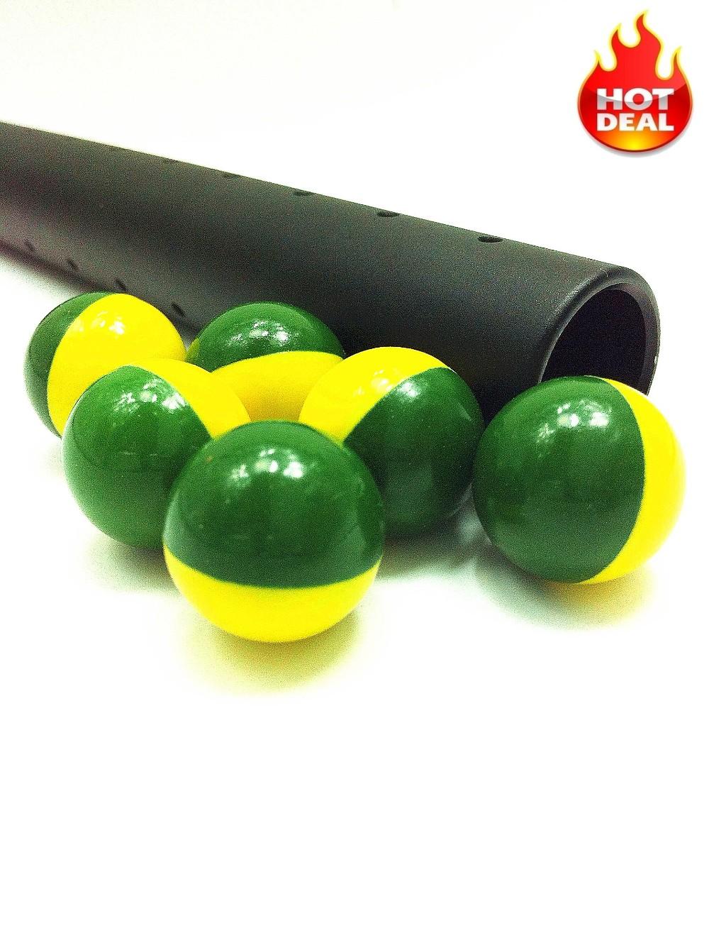 Megio Intermedium Grade Paintball Solid Green Yellow Shell.jpg