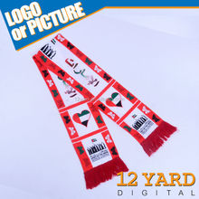UAE National butterfly printed 100 polyester flag scarf