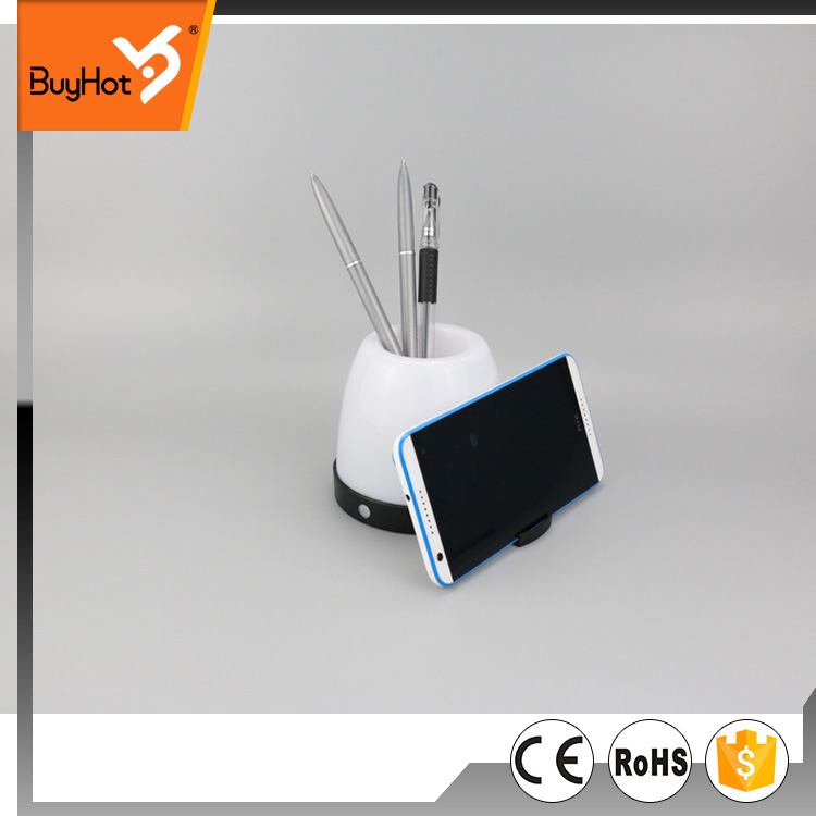 hot selling factory customised led work light with 4-in 1 function  desk lamp, mobile phone stand, pen container, led light.