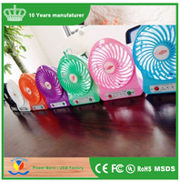 2017 Rechargeable Portable Mini Fan Battery Operated Mini Fan, Mini USB Fan For iPhone Air Conditioning