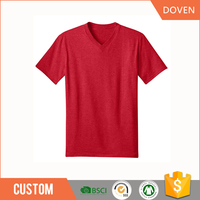 2015 new style V-neck t-shirts made in china