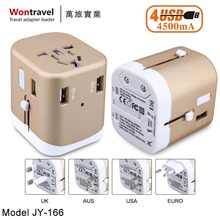 Universal travel adapter, international wall socket universal charger output 4500mA usb, multifunction plug adaptor