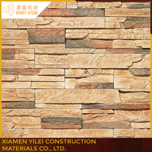 2016 Natural rusty slate veneer stacked ledge culture stone with high quality for wall cladding