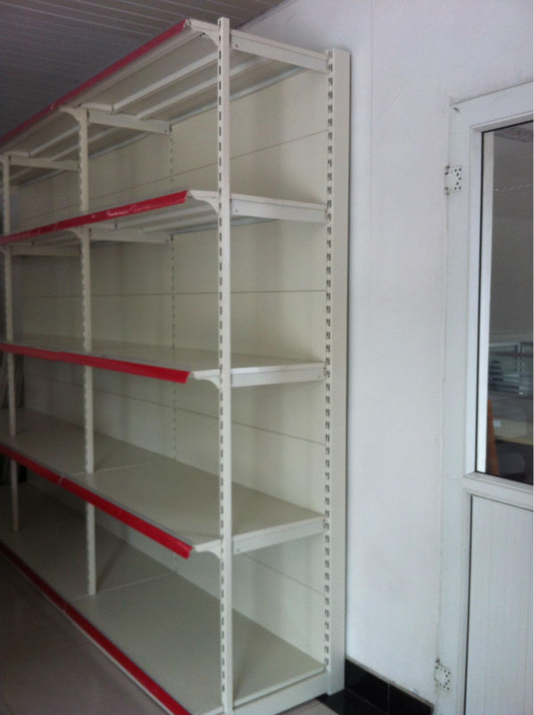 metal goods storage shelf high quality goods shelf single side sample display metal racks