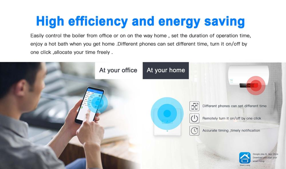 Compatible with Alexa Smart Home Water Heater Boiler Smart Wifi Wall Switch Popular in Israel