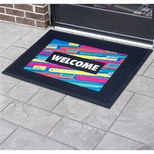 Custom Printed Outdoor Rubber Scraper Logo Mats