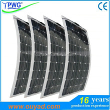 Mono portable flexible solar panel 20W~160W with sunpower for boat/caravan/yacht use