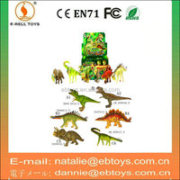 Plastic mini simulation dinosaur model toy with 6 styles