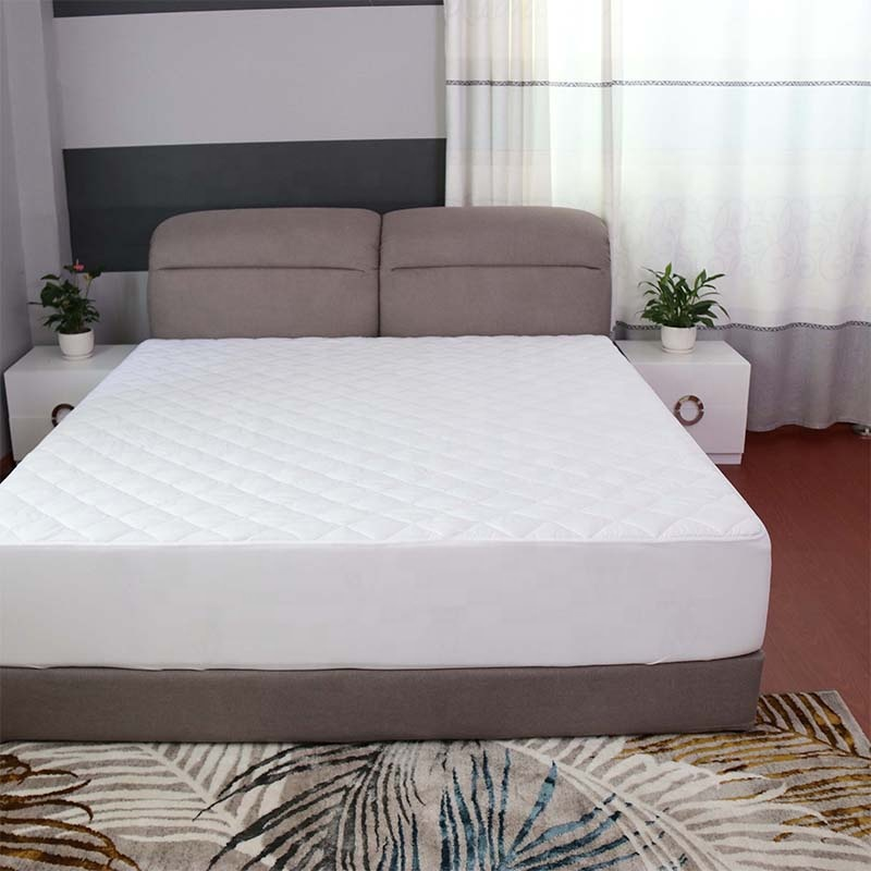 All sizes 100% polyester fabric quilted mattress pad cover - Jozy Mattress | Jozy.net