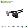 Boan video camera cable Dtap to hirose 12 pin cable flexible black jacket for camera