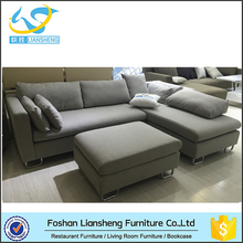 Modern Small Size Cornor Sofa,Fabric Sectional Sofa,Sofa With Stool