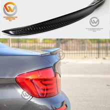 F10 Real 3K Carbon Fiber P Style Car Rear Spoiler for Sale Fit 2012-2017 5-Series 4Dr Sedan